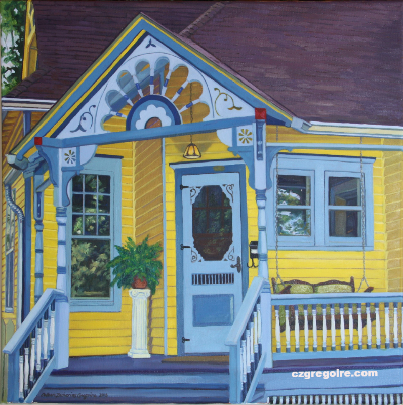 Yellow Corner Porch