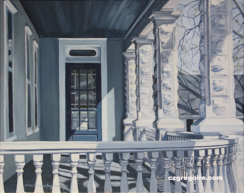 STUDY IN BLUE (PORCH)